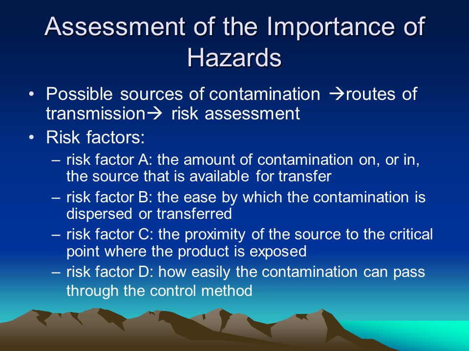 Assessment of the Importance of Hazards