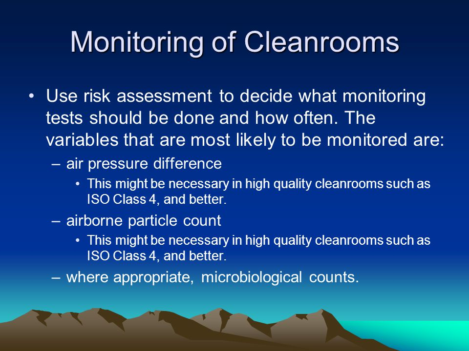 Monitoring of Cleanrooms