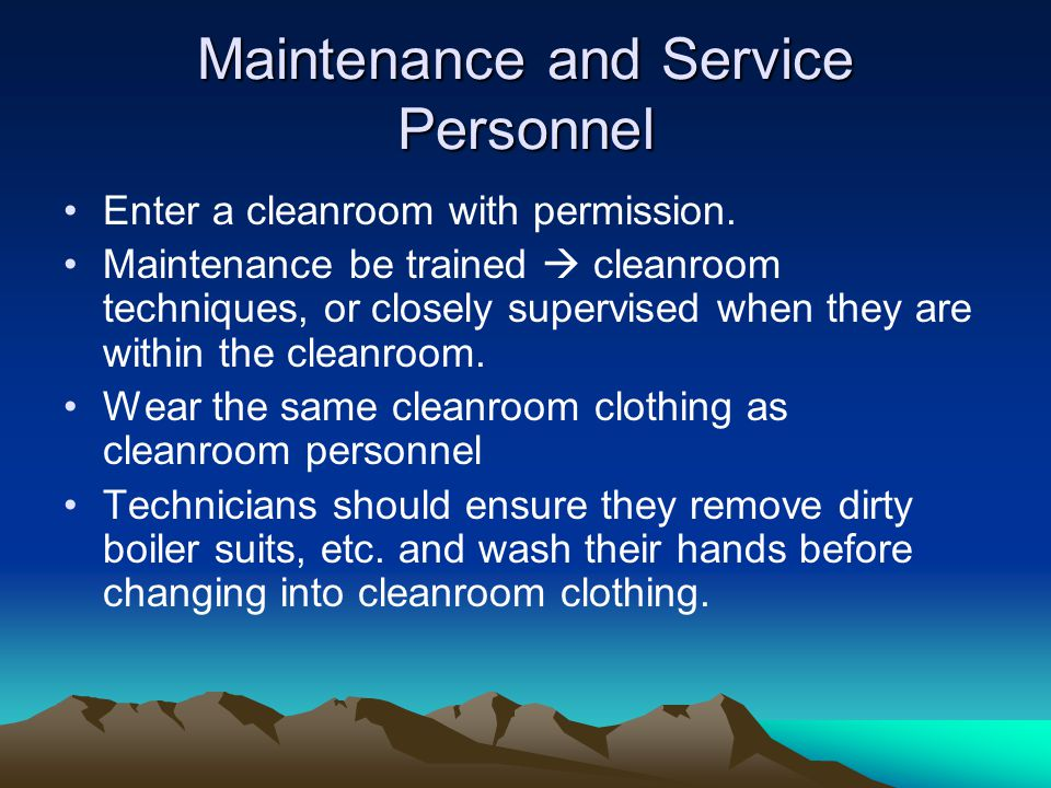 Maintenance and Service Personnel