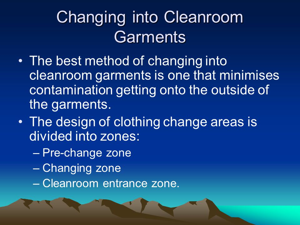 Changing into Cleanroom Garments