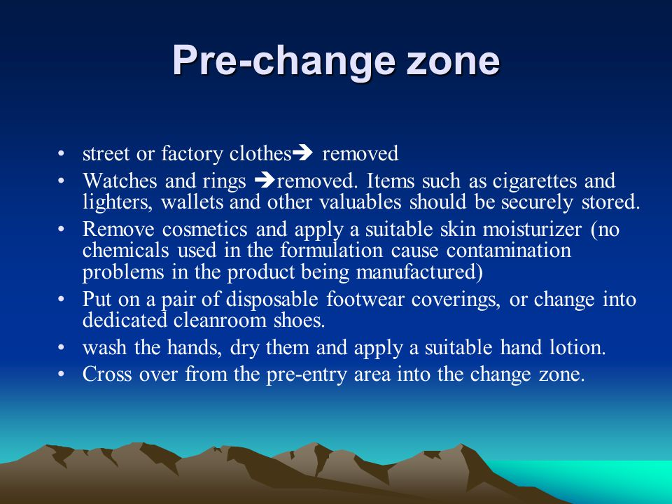 Pre-change zone street or factory clothes removed