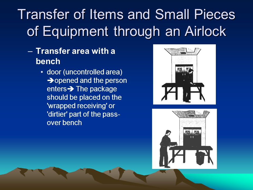 Transfer of Items and Small Pieces of Equipment through an Airlock
