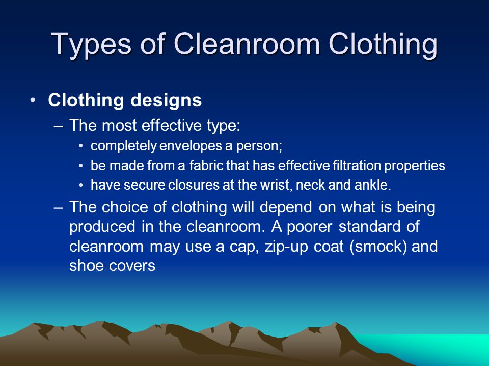 Types of Cleanroom Clothing