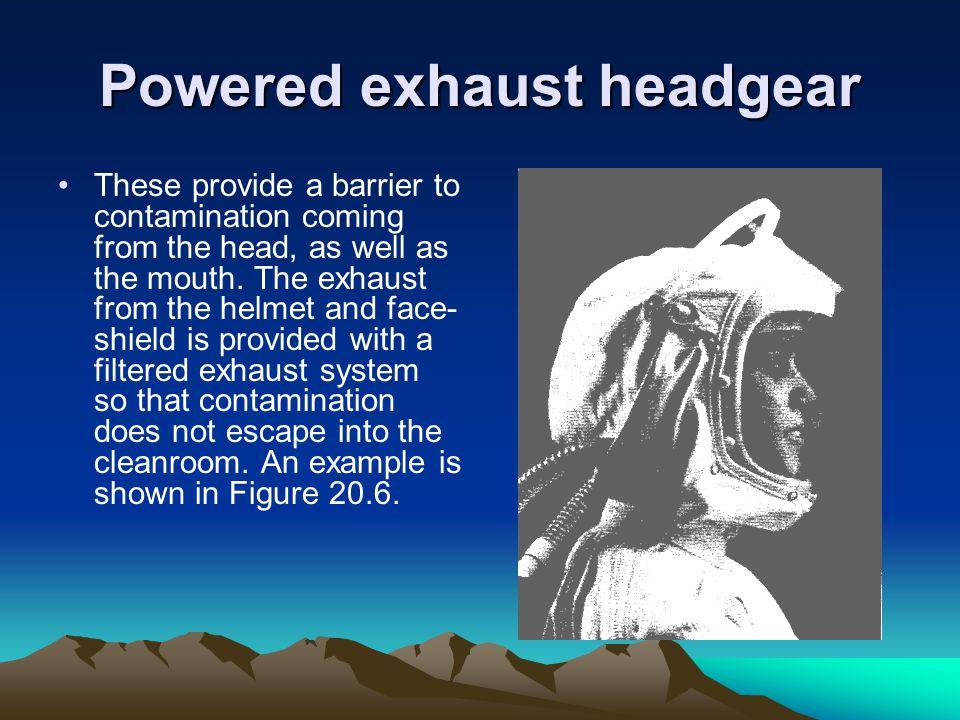 Powered exhaust headgear