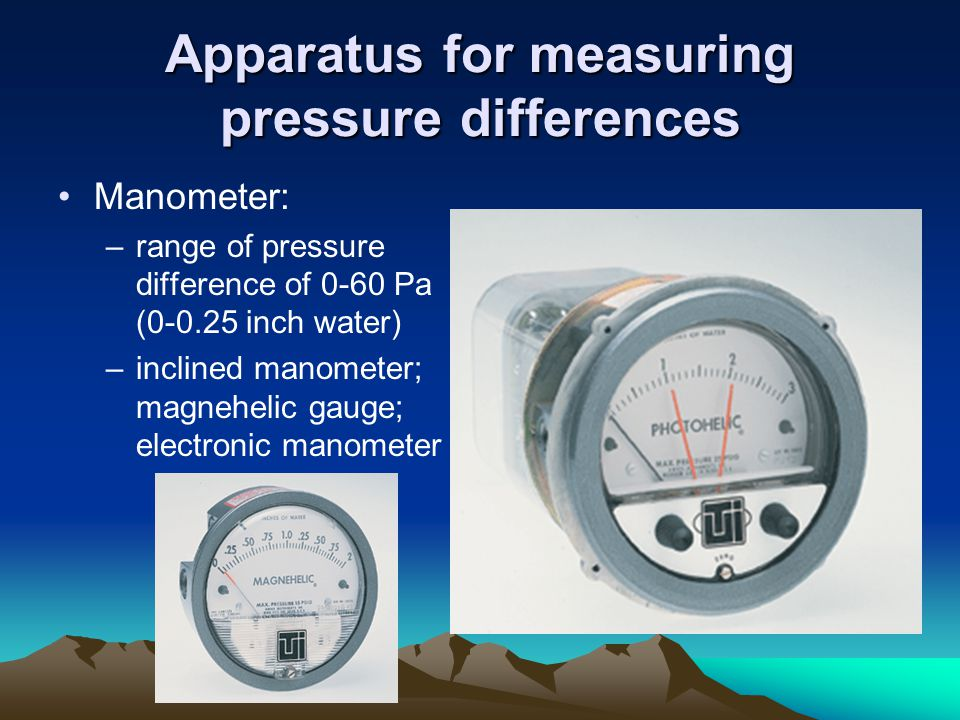 Apparatus for measuring pressure differences