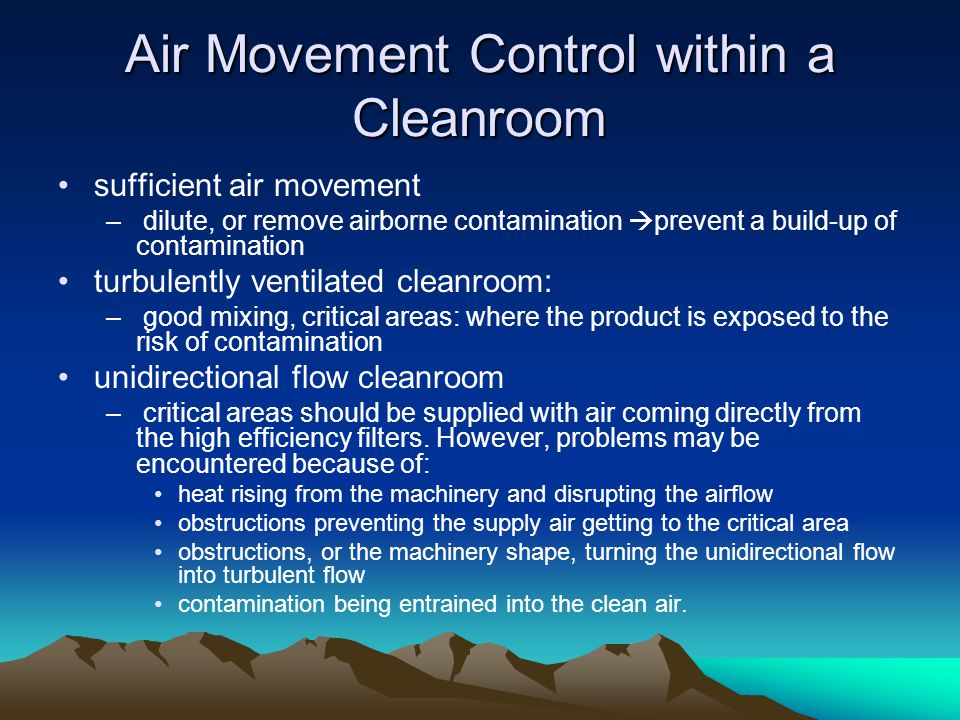 Air Movement Control within a Cleanroom