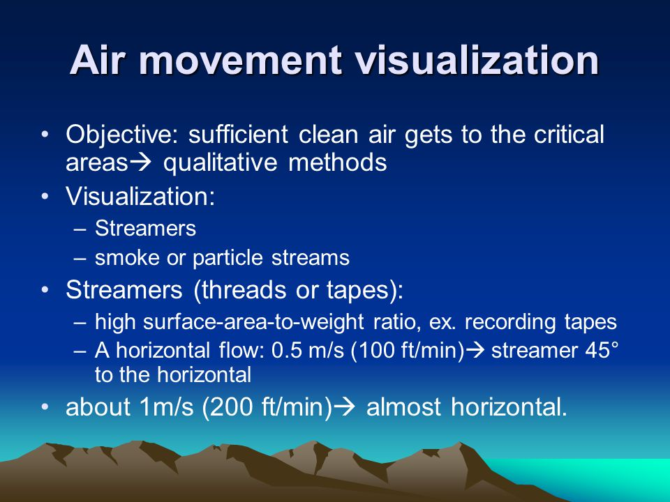Air movement visualization