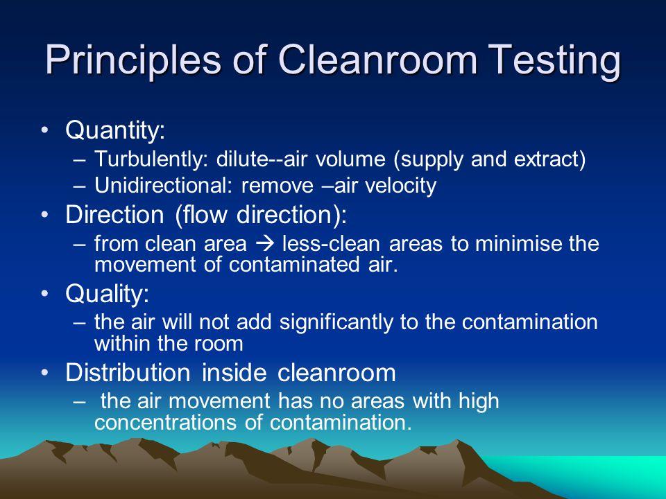 Principles of Cleanroom Testing