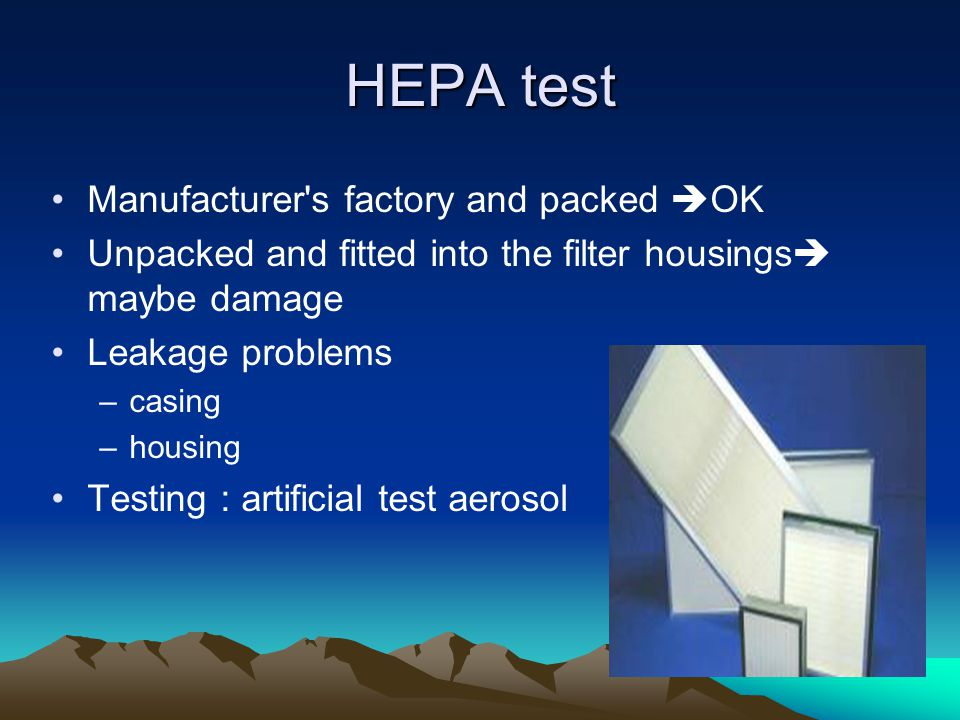 HEPA test Manufacturer s factory and packed OK