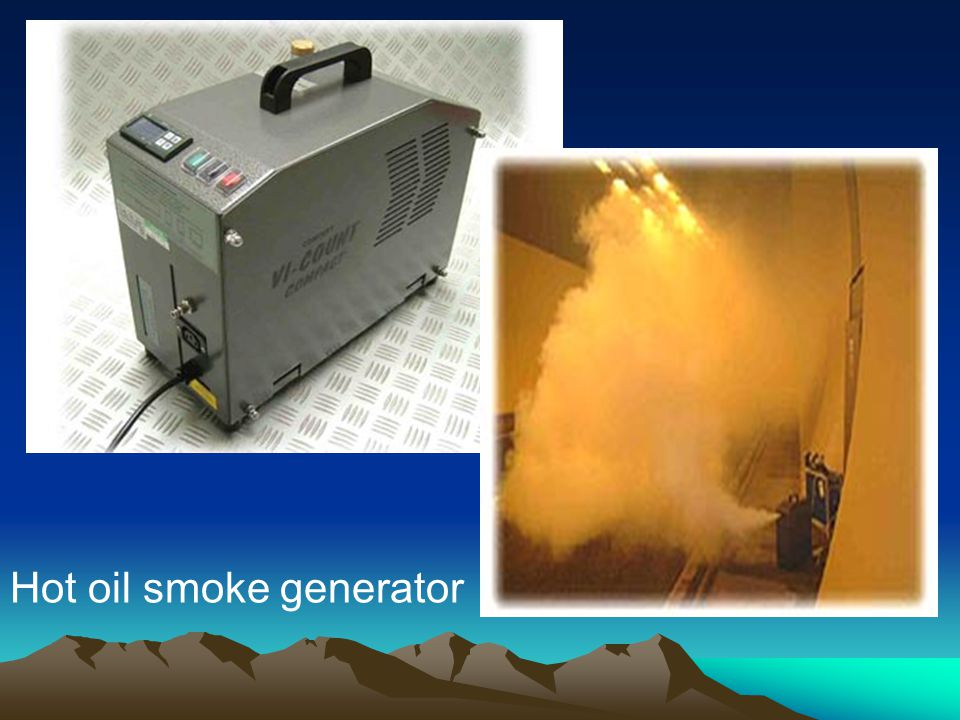 Hot oil smoke generator