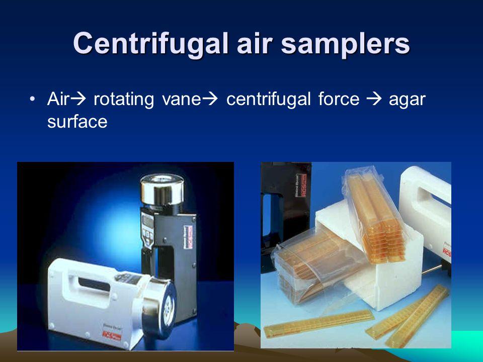 Centrifugal air samplers