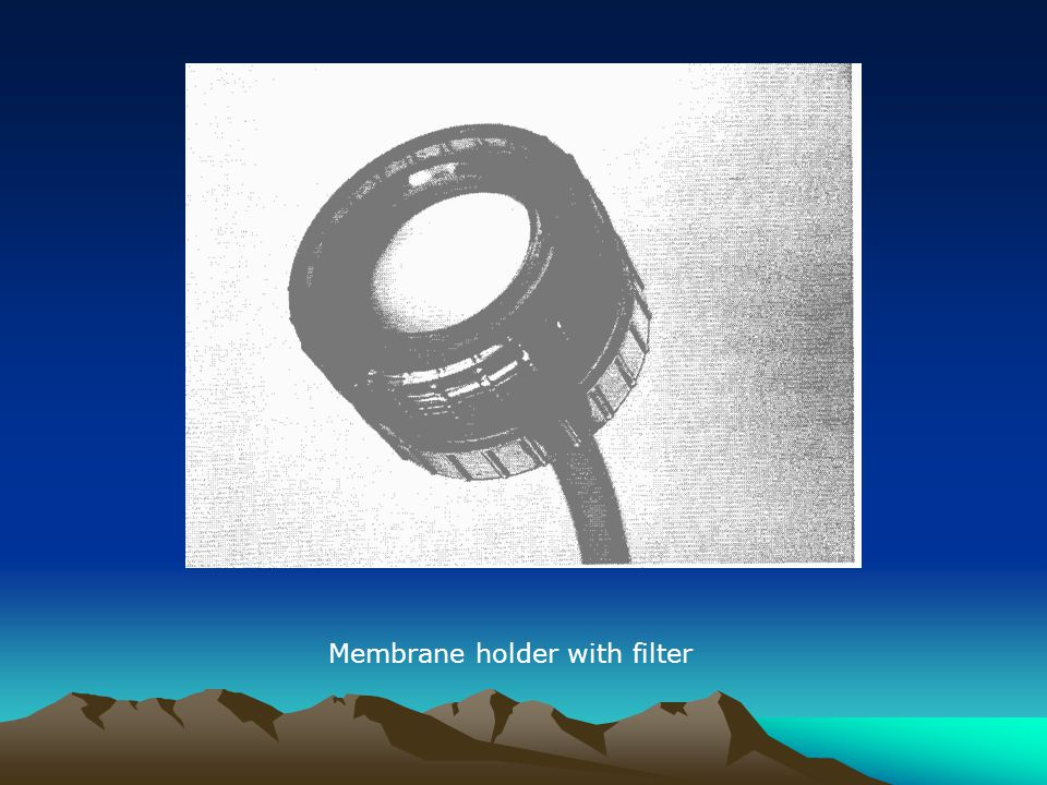Membrane holder with filter