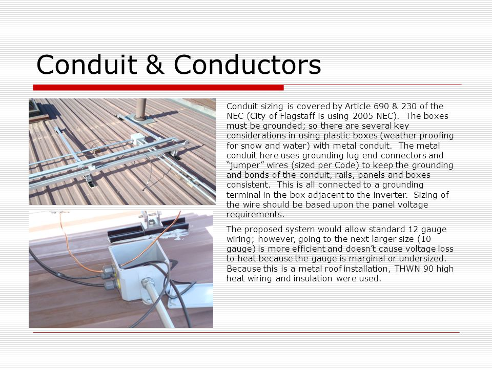 Conduit & Conductors