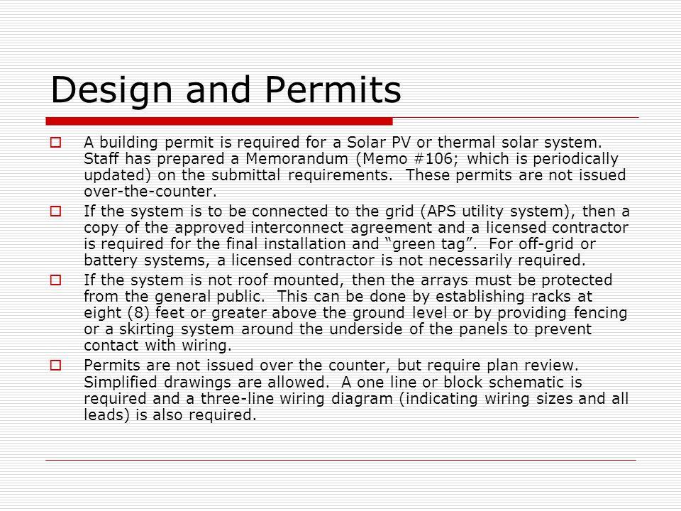 Design and Permits