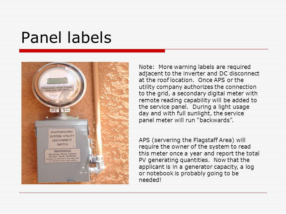 Panel labels