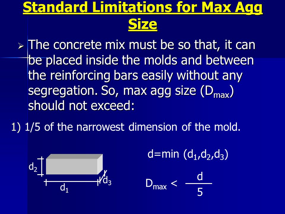 Standard Limitations for Max Agg Size