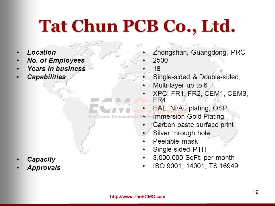 Tat Chun PCB Co., Ltd. Location No. of Employees Years in business