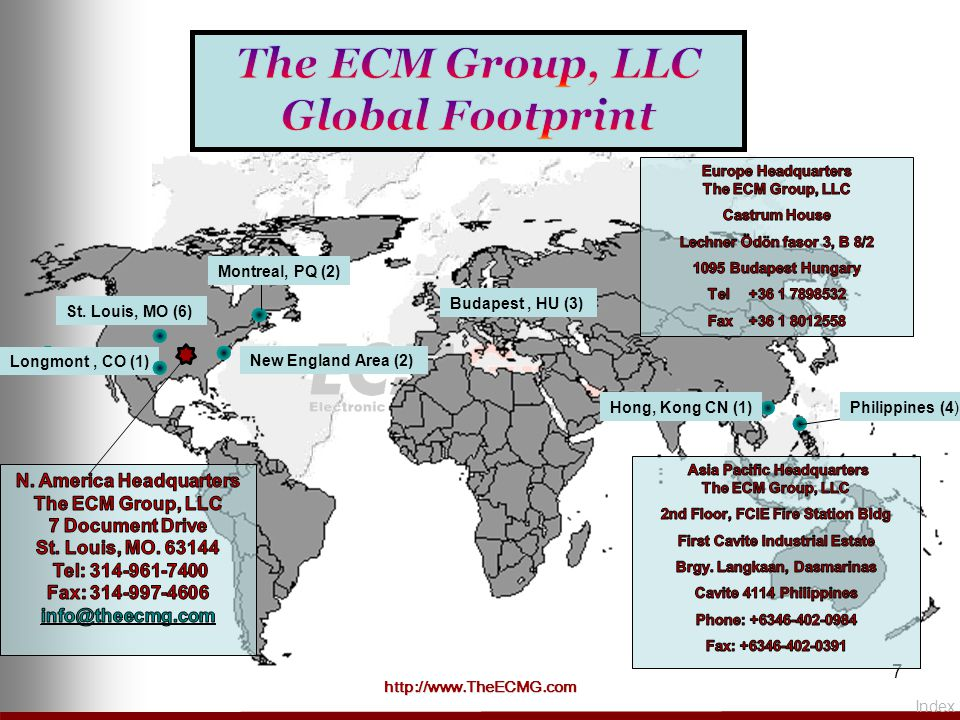 The ECM Group, LLC Global Footprint