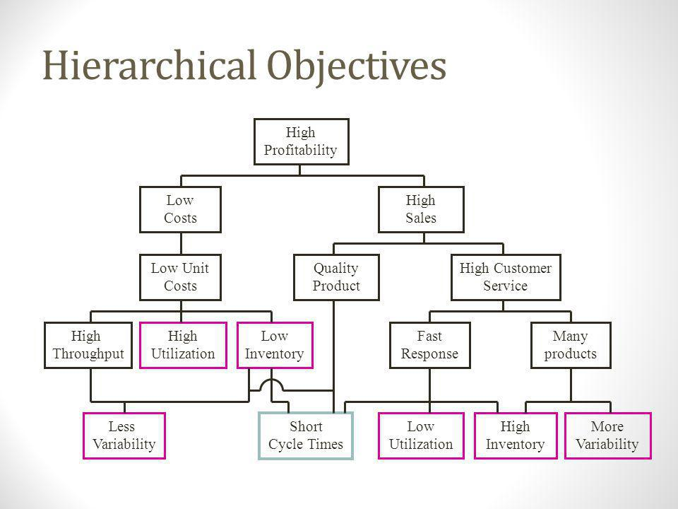 Hierarchical Objectives