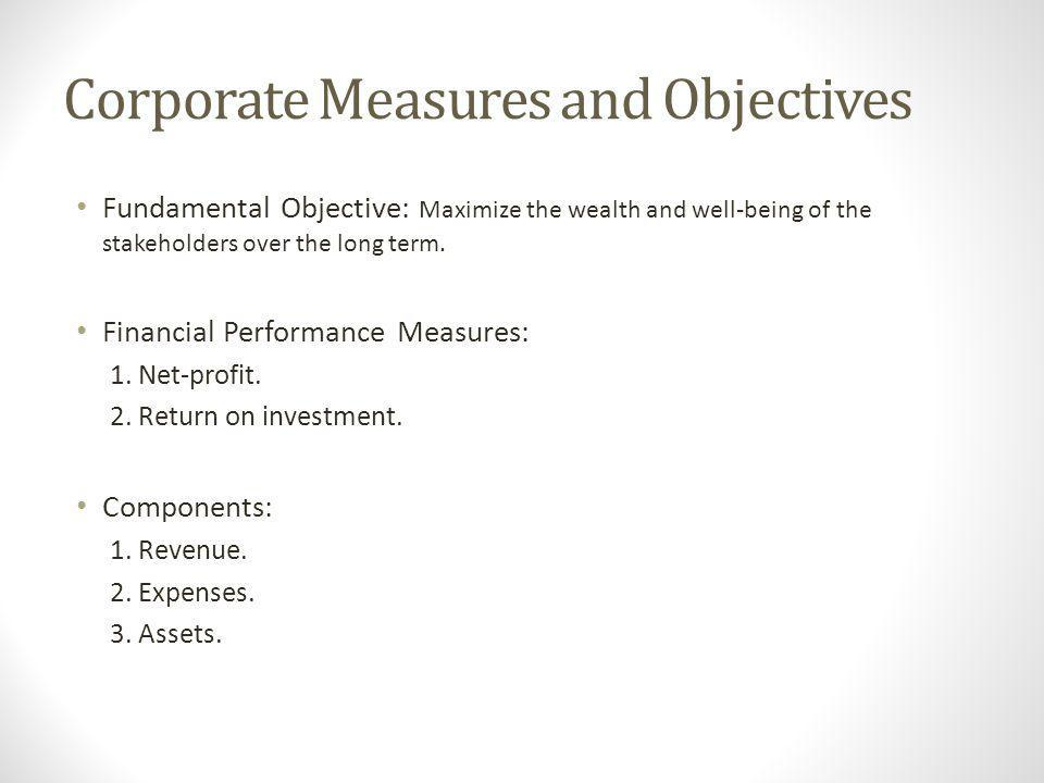 Corporate Measures and Objectives