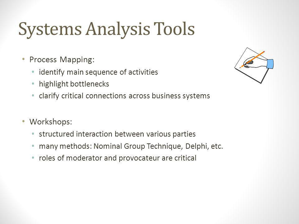 Systems Analysis Tools