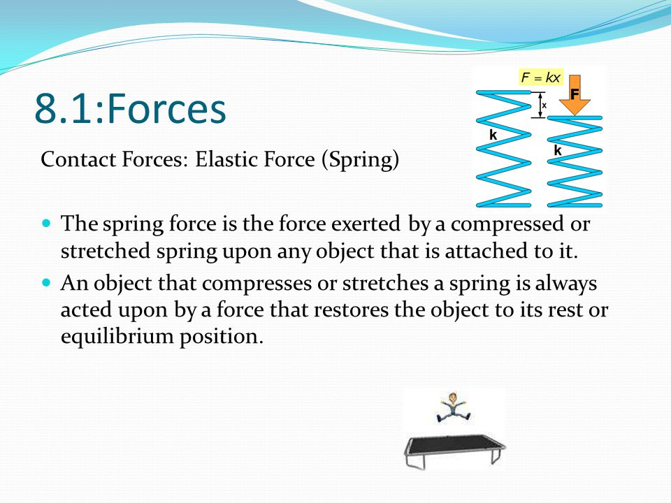 8.1:Forces Contact Forces: Elastic Force (Spring)