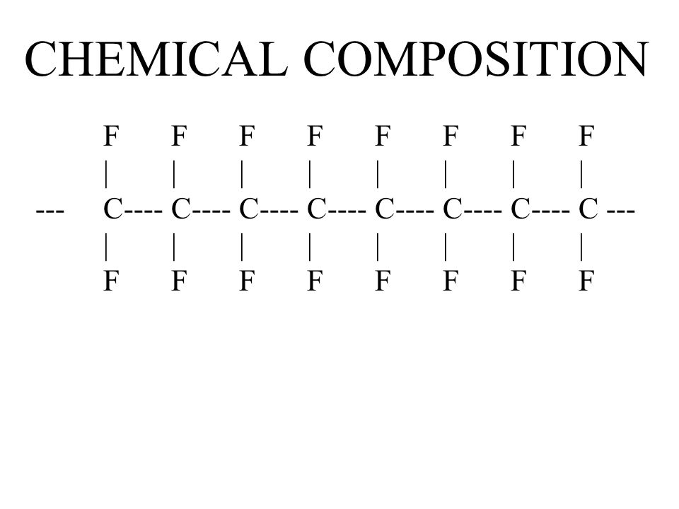 CHEMICAL COMPOSITION F F F F F F F F | | | | | | | | --- C---- C---- C---- C---- C---- C---- C---- C --- | | | | | | | | F F F F F F F F.