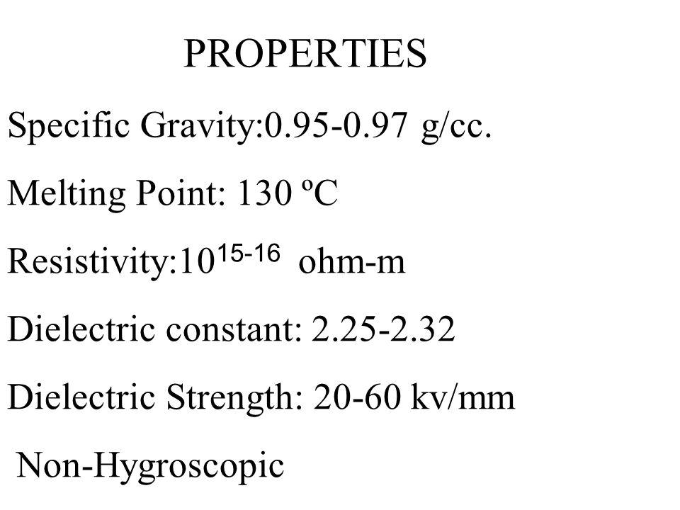 PROPERTIES Specific Gravity:0. 95-0. 97 g/cc