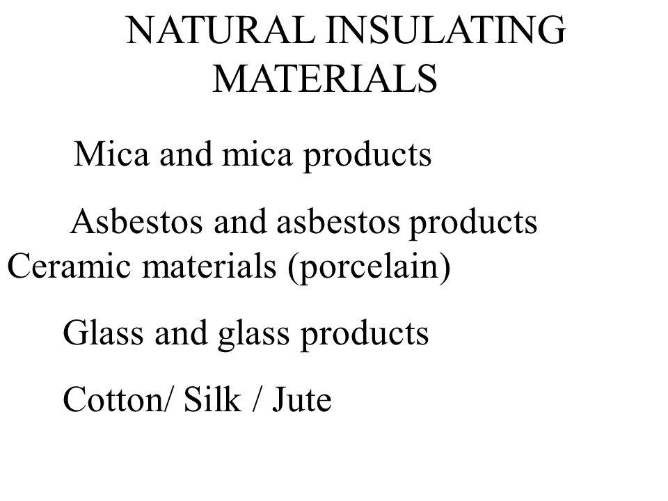NATURAL INSULATING MATERIALS