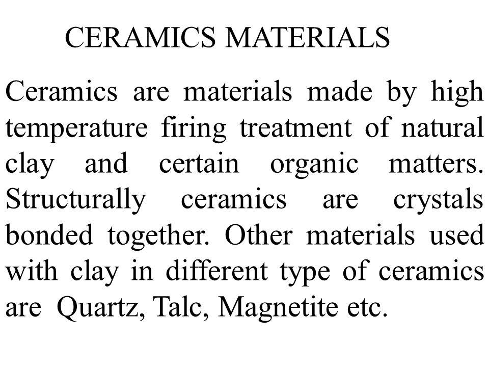CERAMICS MATERIALS