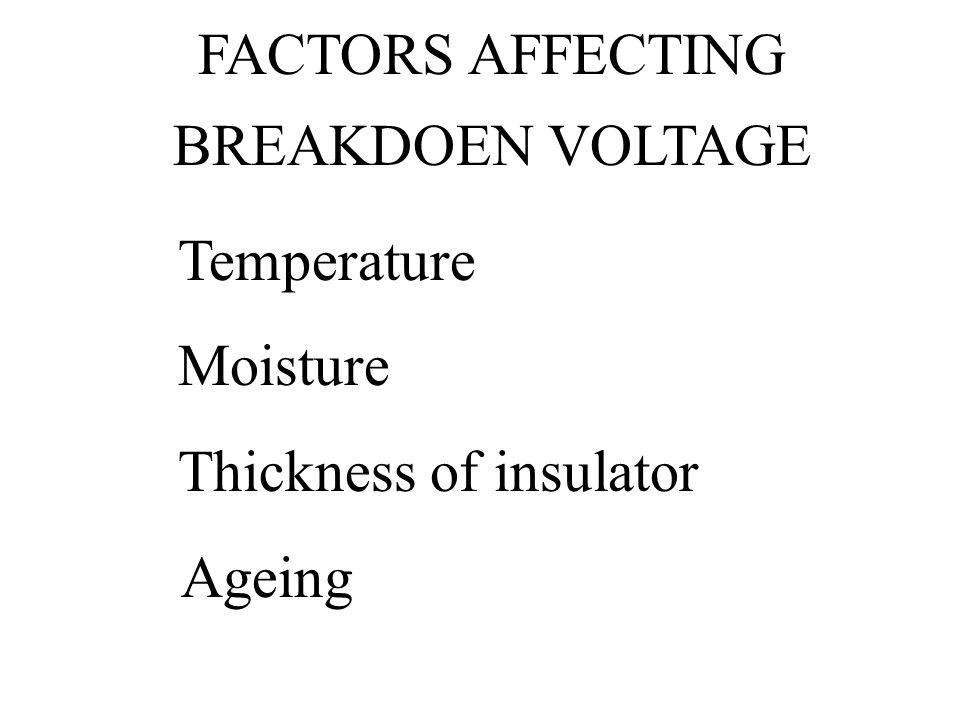 FACTORS AFFECTING BREAKDOEN VOLTAGE