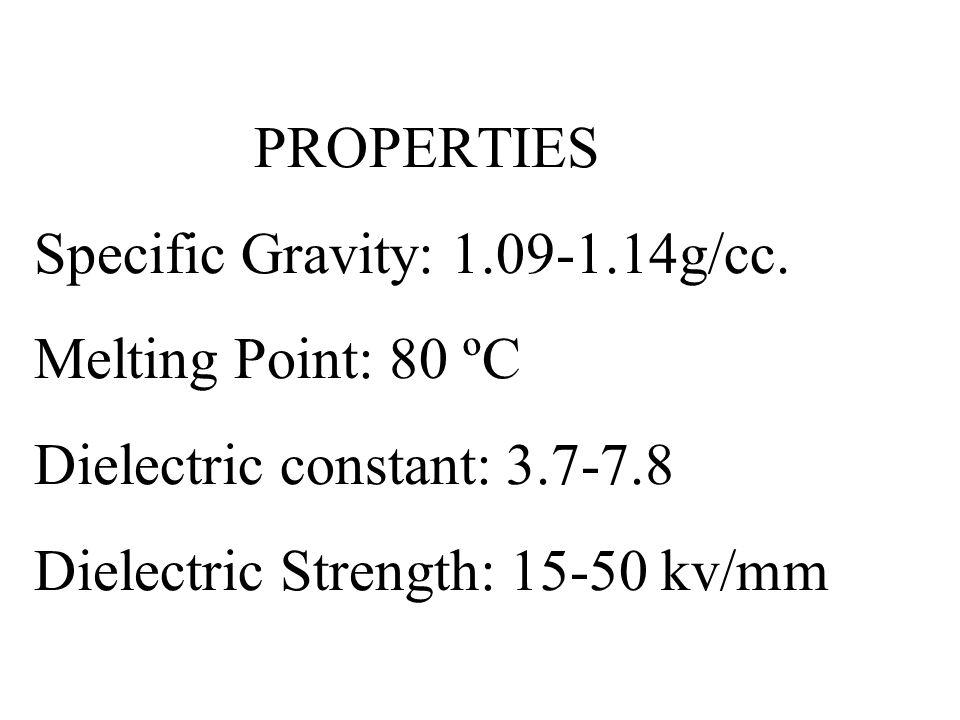 PROPERTIES Specific Gravity: 1. 09-1. 14g/cc