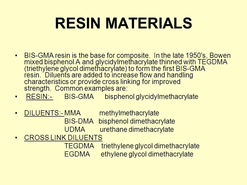 RESIN MATERIALS
