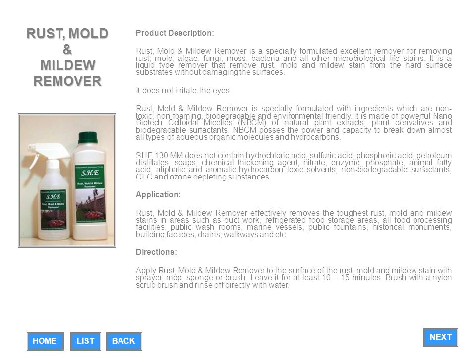 RUST, MOLD & MILDEW REMOVER