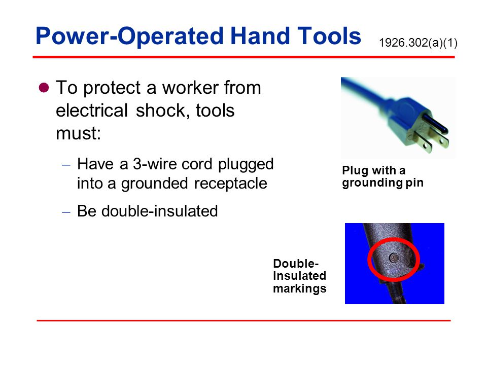 Power-Operated Hand Tools