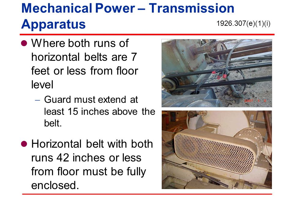 Mechanical Power – Transmission Apparatus