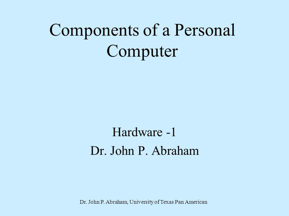 Components of a Personal Computer