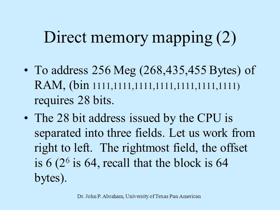 Direct memory mapping (2)