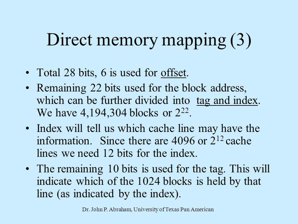Direct memory mapping (3)
