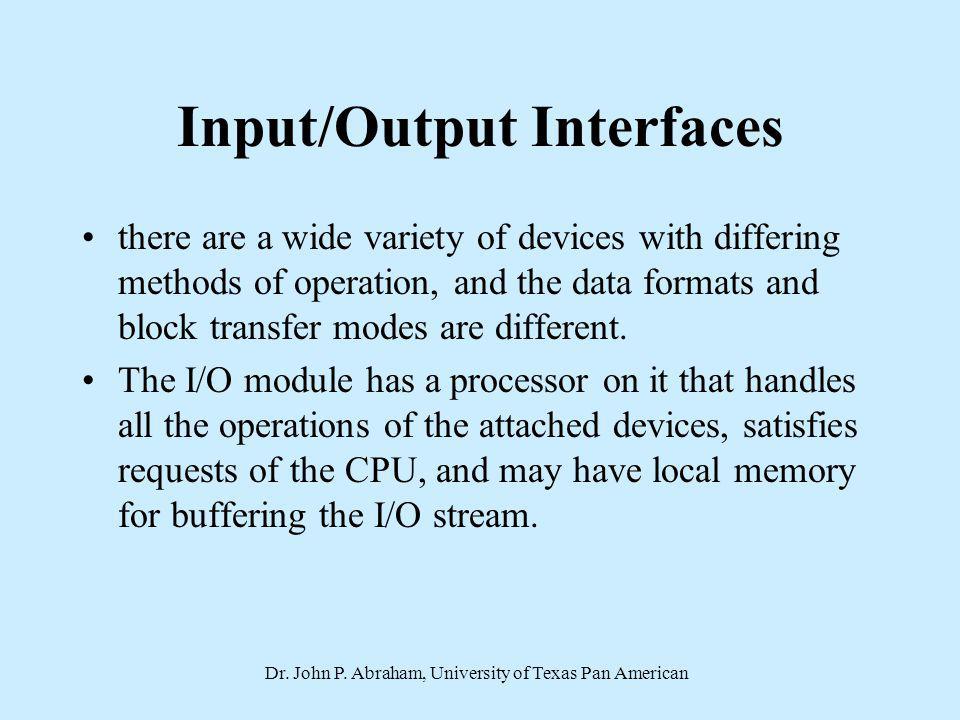 Input/Output Interfaces