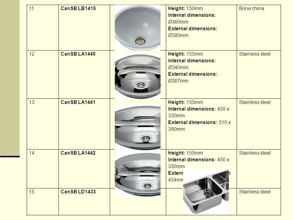 11 CanSB LB1415. Height: 150mm Internal dimensions: Ø360mm External dimensions: Ø390mm. Bone china.