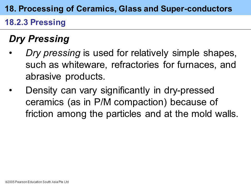 18.2.3 Pressing Dry Pressing.