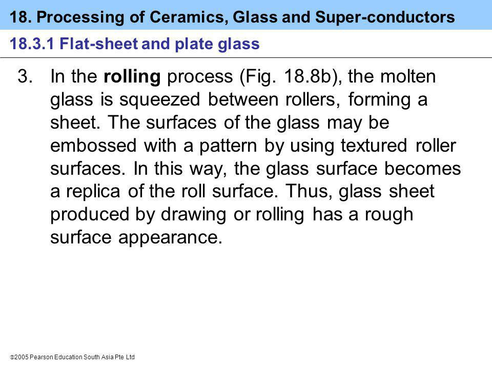 18.3.1 Flat-sheet and plate glass
