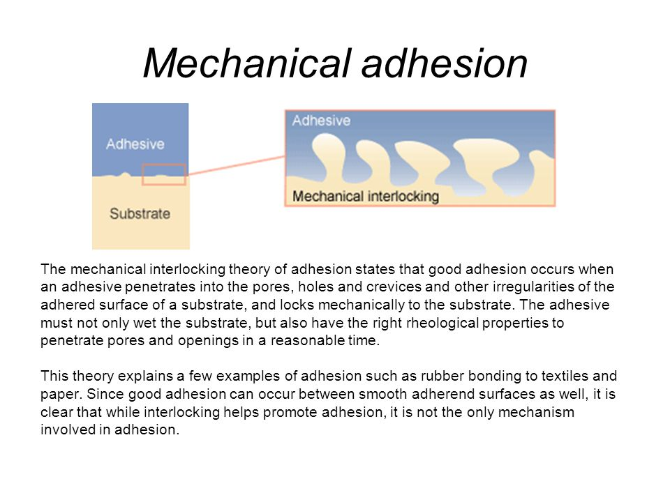 Mechanical adhesion