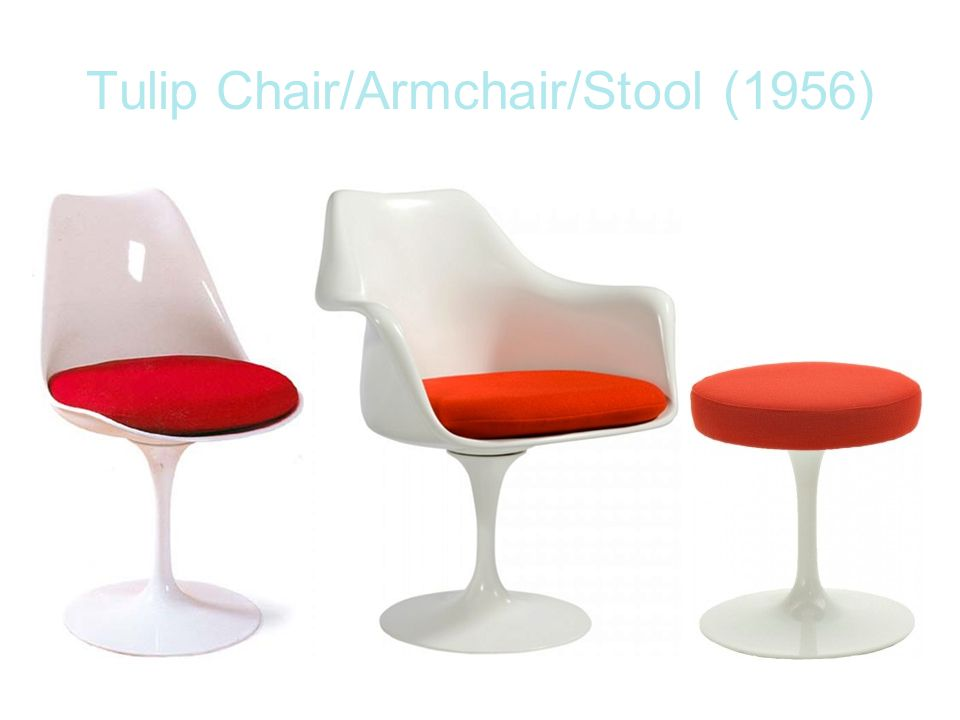 Tulip Chair/Armchair/Stool (1956)