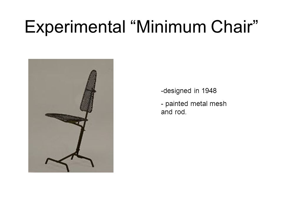Experimental Minimum Chair