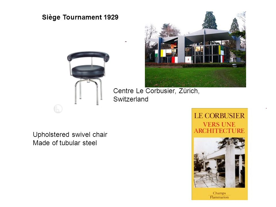 Siège Tournament 1929 Centre Le Corbusier, Zürich, Switzerland.