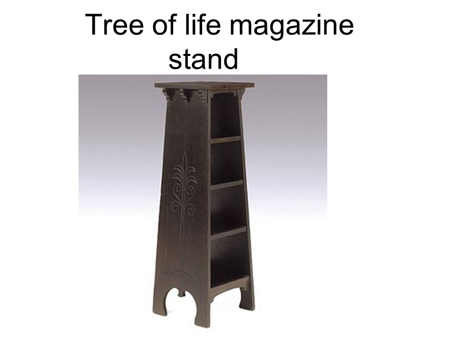 Tree of life magazine stand