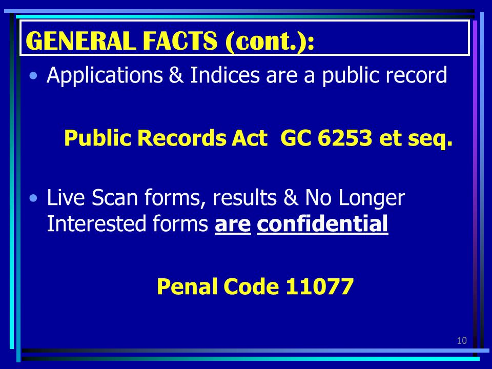 Public Records Act GC 6253 et seq.