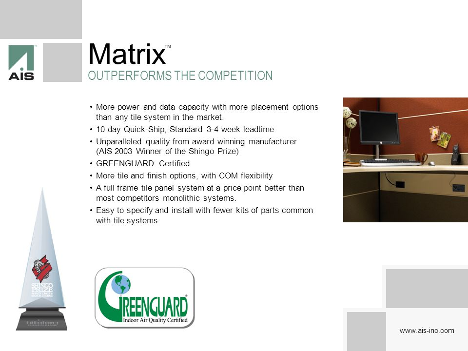 Matrix OUTPERFORMS THE COMPETITION